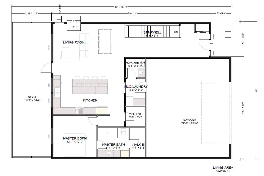 PVE Lot 4 Main level Floor Plan