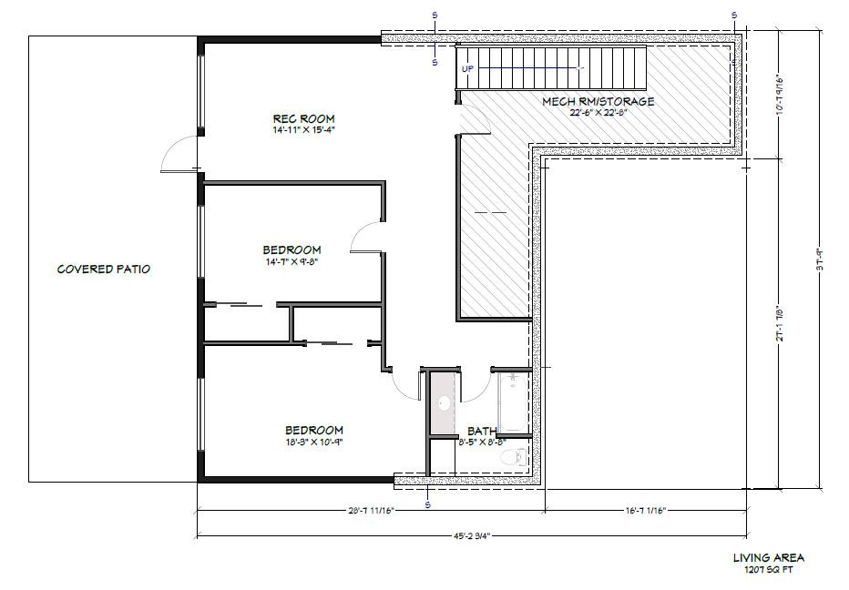PVE Lot 9 Lower Level Floor Plan
